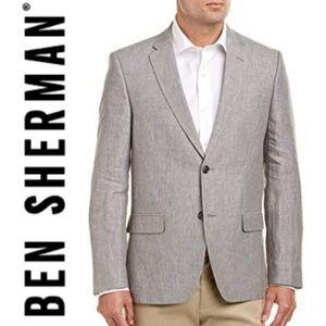 (NWT) BEN SHERMAN Mens Crown Linen Sportcoat